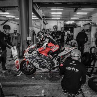 "Signs still on ""Stop"" - but not for long! In just two month's time the @24heuresmotos of the @fim_ewc_official will start at Le Mans! Then, @luzzy_69_ @stefan_kerschbaumer_89  @pepijnbijsterbosch and @tonifinsterbusch9 will give their @bmwmotorradmotorsport #RR a flat-out-weekend again!  #Endurance #Langstrecke #BMWMotorrad #makelifearide #GERT56 #24hMotos #LeMans #24stundenlemans 📸 @highsidepr"